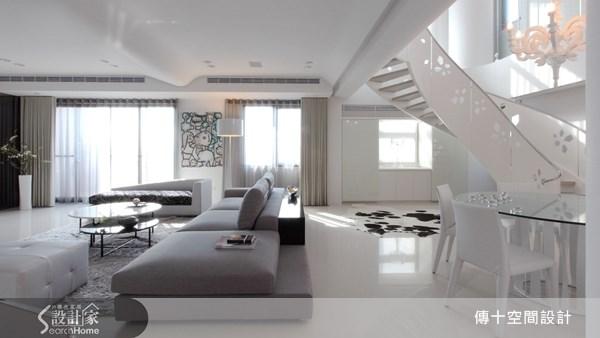 72坪新成屋(5年以下)_簡約風客廳案例圖片_傳十空間設計_傳十_10之3