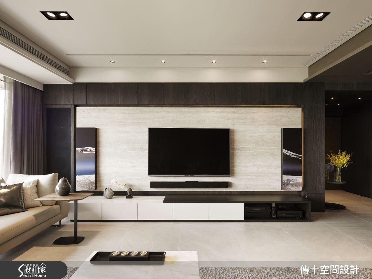 80坪新成屋(5年以下)_現代風客廳案例圖片_傳十空間設計_傳十_14之1