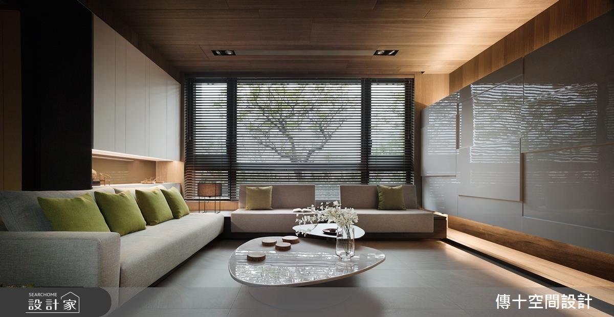 85坪新成屋(5年以下)_休閒風客廳案例圖片_傳十空間設計_傳十_16之2