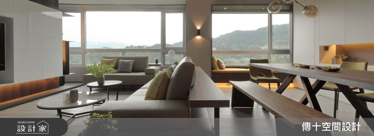 38坪老屋(16~30年)_現代風客廳案例圖片_傳十空間設計_傳十_18之2