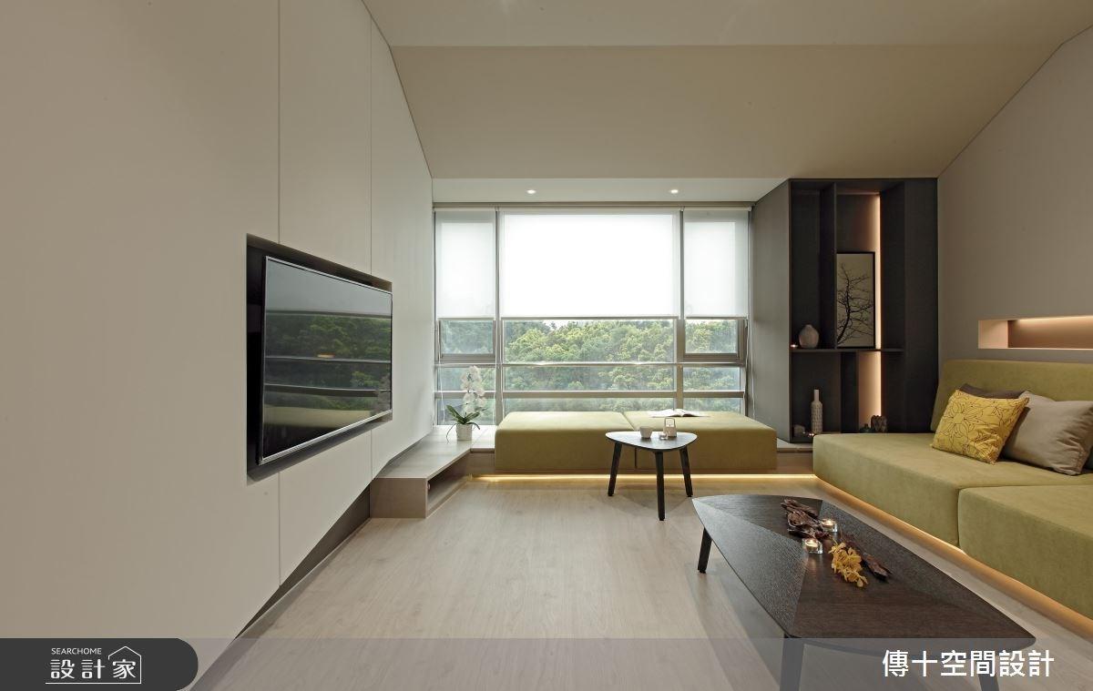 32坪老屋(16~30年)_現代風客廳案例圖片_傳十空間設計_傳十_19之2