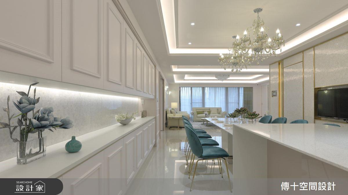 81坪新成屋(5年以下)_新古典餐廳案例圖片_傳十空間設計_傳十_20之3