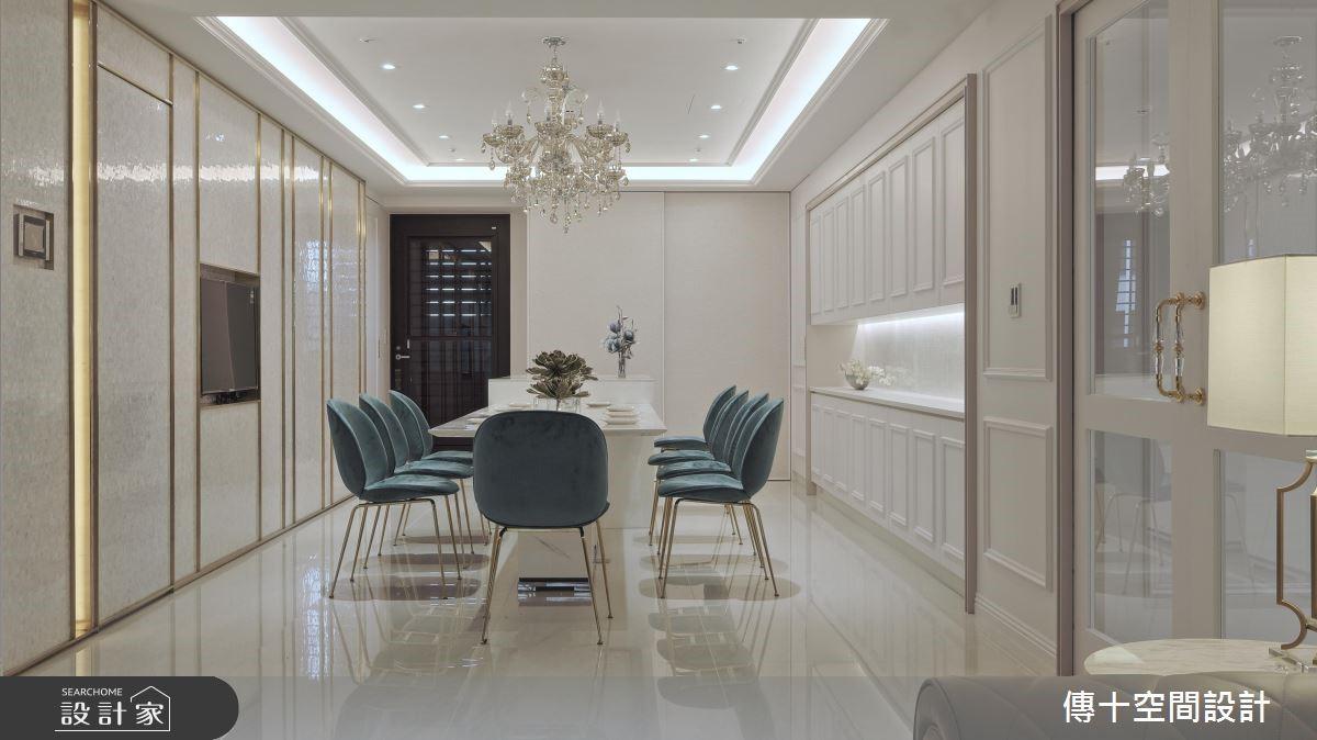 81坪新成屋(5年以下)_新古典餐廳案例圖片_傳十空間設計_傳十_20之4
