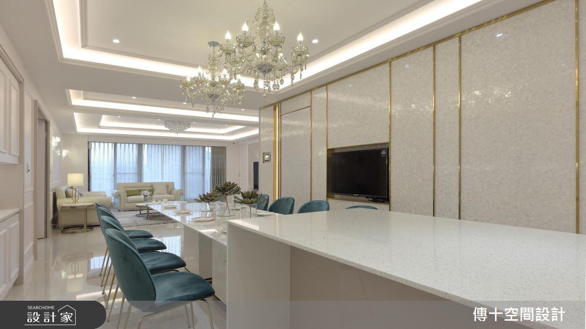 81坪新成屋(5年以下)_新古典餐廳案例圖片_傳十空間設計_傳十_20之2