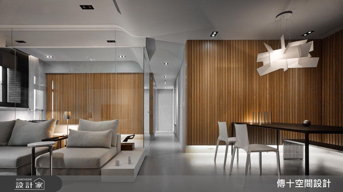 33坪_混搭風客廳餐廳案例圖片_傳十空間設計_傳十_22之2