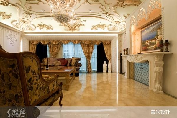 60坪新成屋(5年以下)_新古典客廳案例圖片_善米設計有限公司_善米_06之4