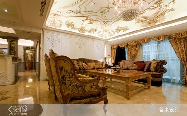 60坪新成屋(5年以下)_新古典客廳案例圖片_善米設計有限公司_善米_06之3