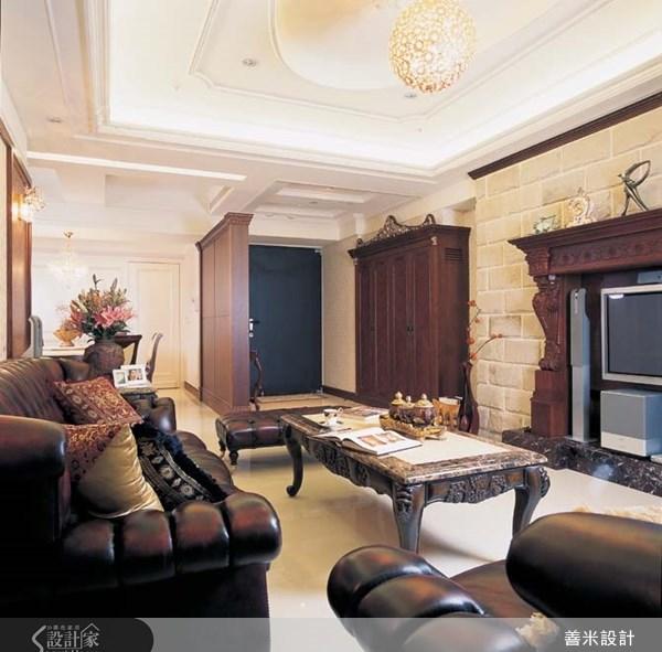 40坪新成屋(5年以下)_新古典客廳案例圖片_善米設計有限公司_善米_01之5