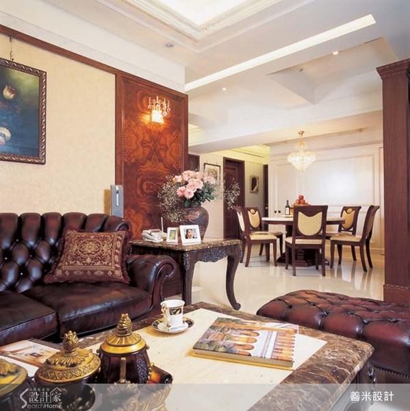40坪新成屋(5年以下)_新古典客廳案例圖片_善米設計有限公司_善米_01之6