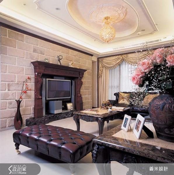 40坪新成屋(5年以下)_新古典客廳案例圖片_善米設計有限公司_善米_01之4