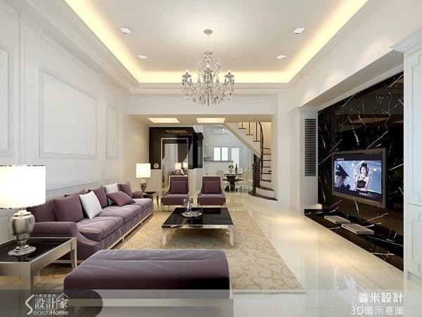120坪新成屋(5年以下)_新古典客廳案例圖片_善米設計有限公司_善米_07之2