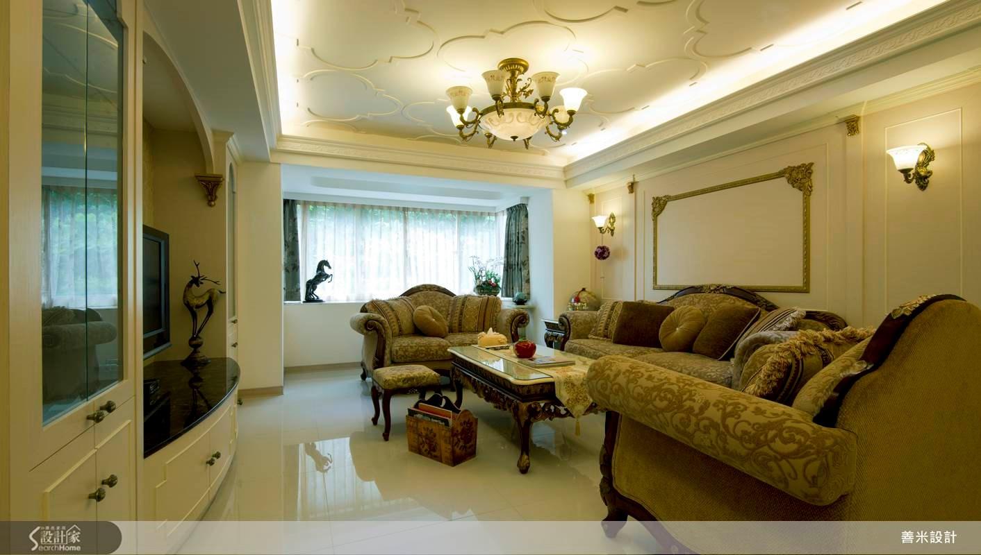30坪老屋(16~30年)_新古典客廳案例圖片_善米設計有限公司_善米_09之3