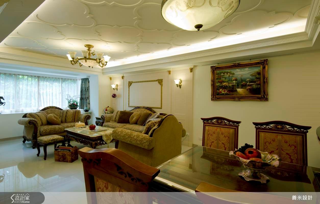 30坪老屋(16~30年)_新古典客廳案例圖片_善米設計有限公司_善米_09之4