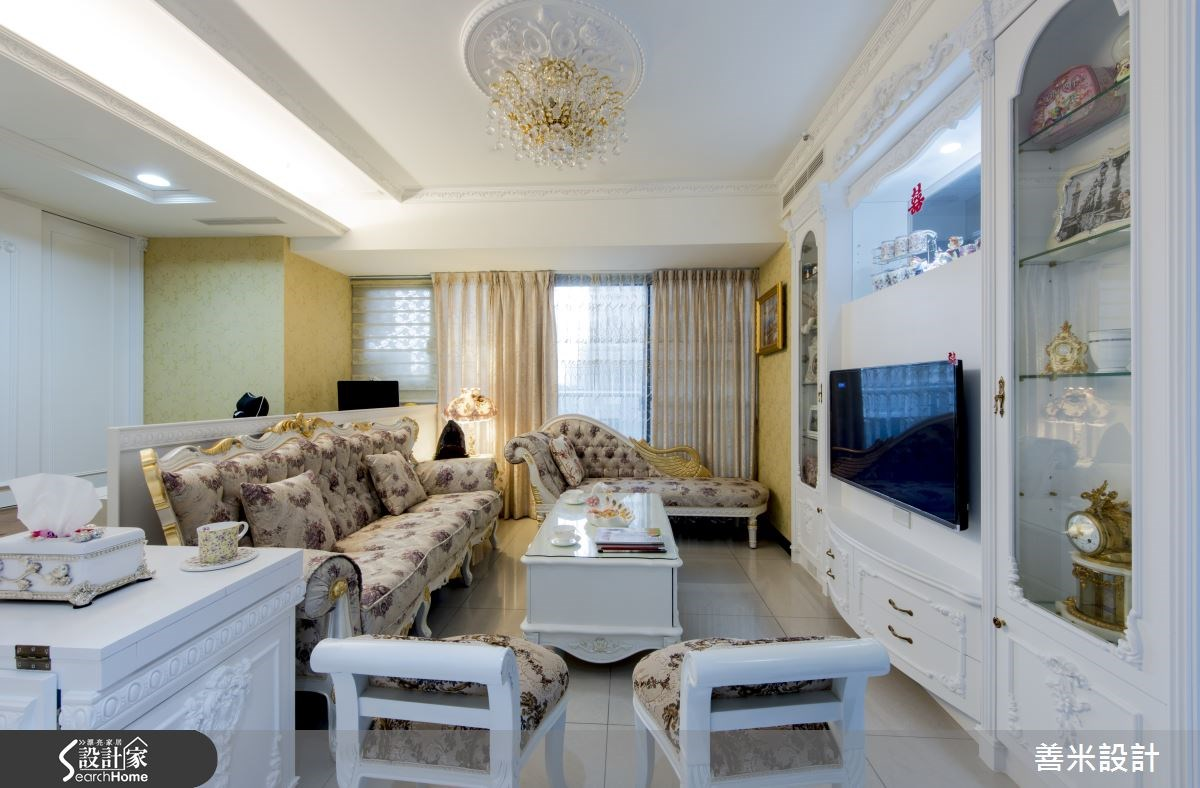 14坪新成屋(5年以下)_新古典客廳案例圖片_善米設計有限公司_善米_12之1