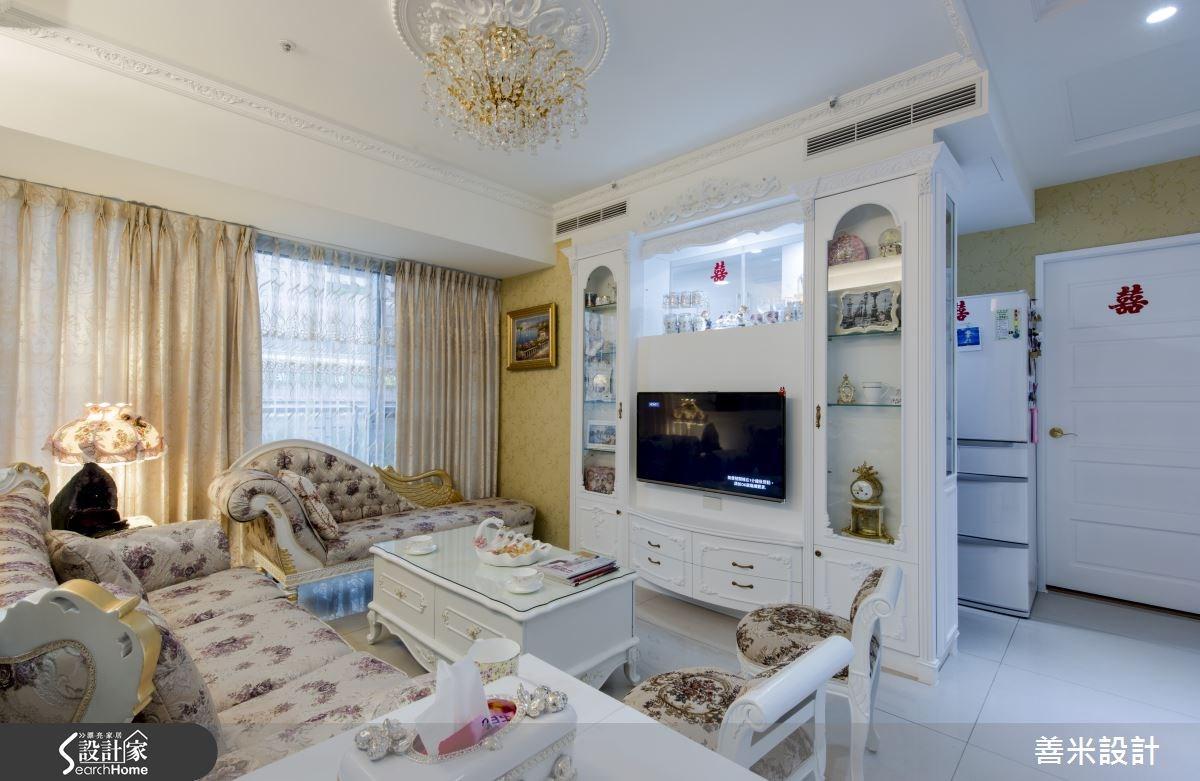 14坪新成屋(5年以下)_新古典客廳案例圖片_善米設計有限公司_善米_12之4