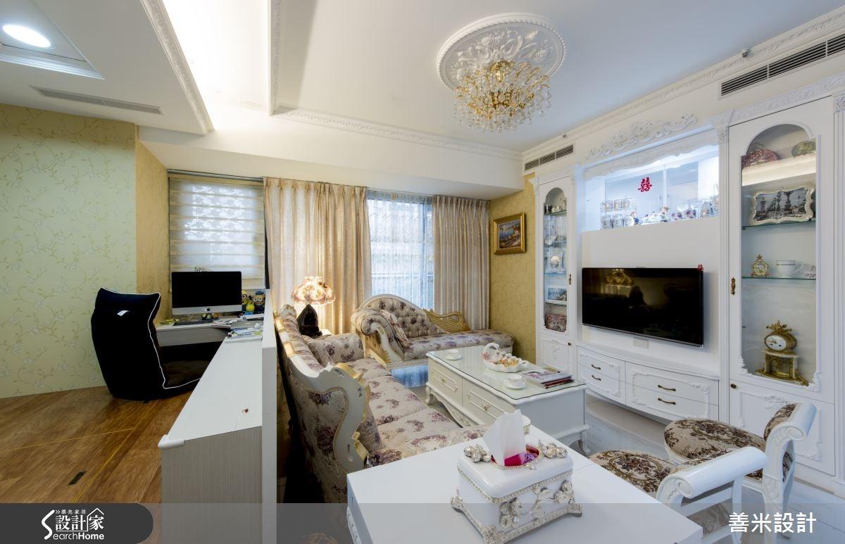 14坪新成屋(5年以下)_新古典客廳案例圖片_善米設計有限公司_善米_12之6