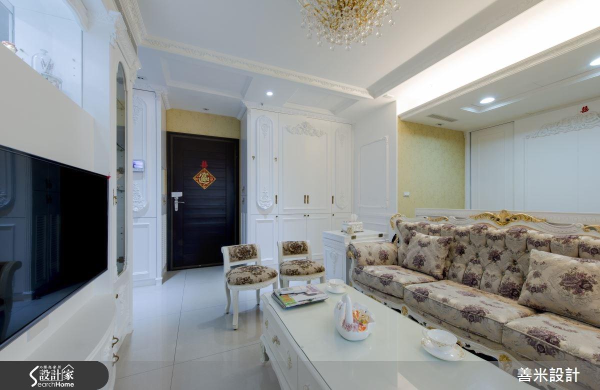 14坪新成屋(5年以下)_新古典客廳案例圖片_善米設計有限公司_善米_12之12
