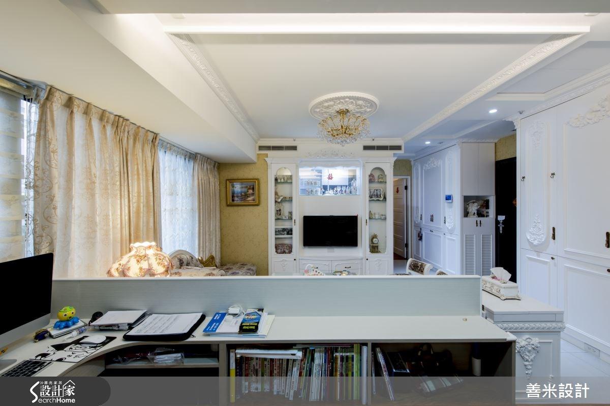 14坪新成屋(5年以下)_新古典書房案例圖片_善米設計有限公司_善米_12之16
