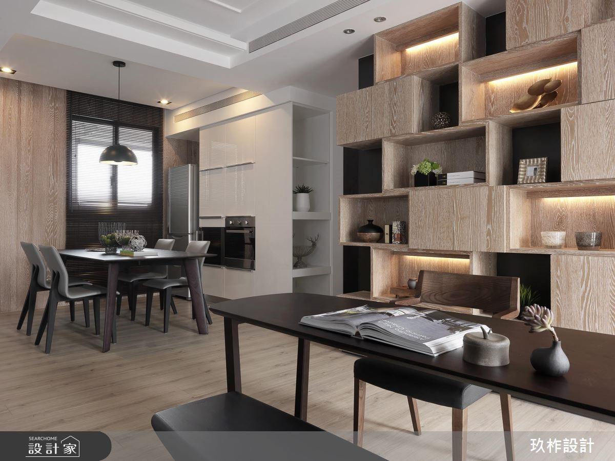 40坪新成屋(5年以下)_現代風餐廳書房案例圖片_玖柞設計_玖柞_02之4
