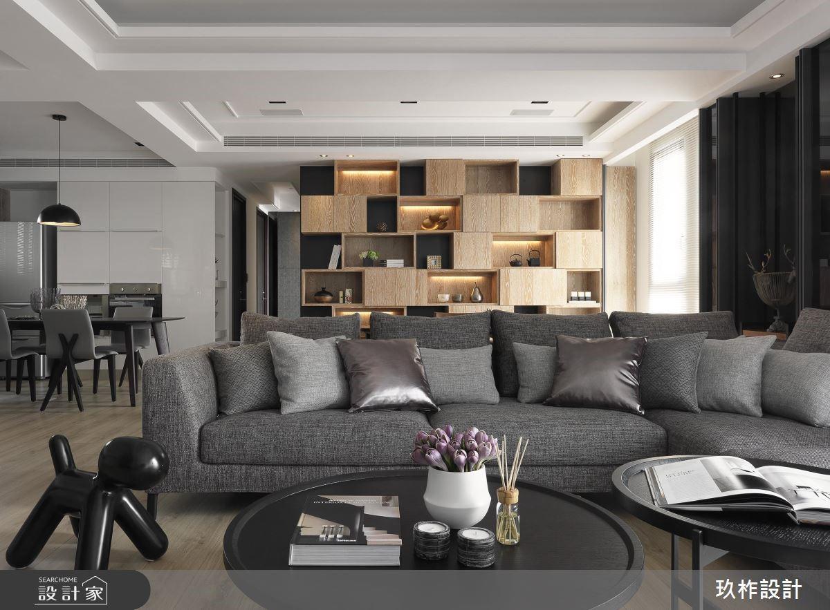 40坪新成屋(5年以下)_現代風客廳案例圖片_玖柞設計_玖柞_02之3