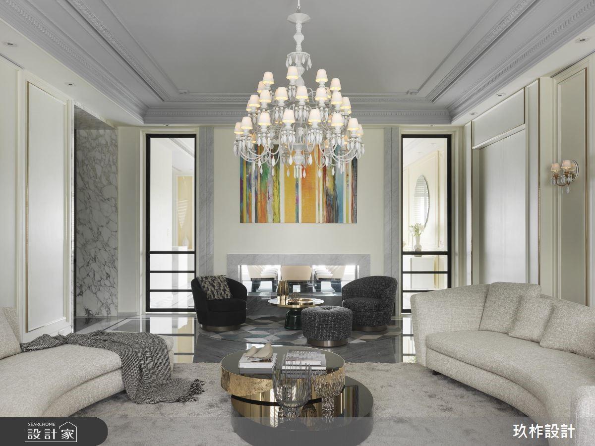 300坪新成屋(5年以下)_新古典客廳案例圖片_玖柞設計_玖柞_03之3