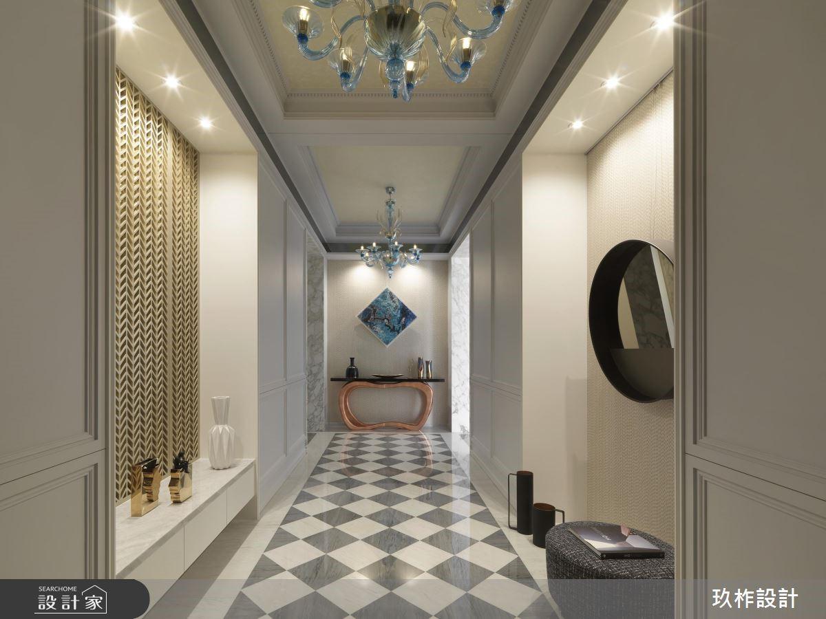 300坪新成屋(5年以下)_新古典玄關走廊案例圖片_玖柞設計_玖柞_03之1