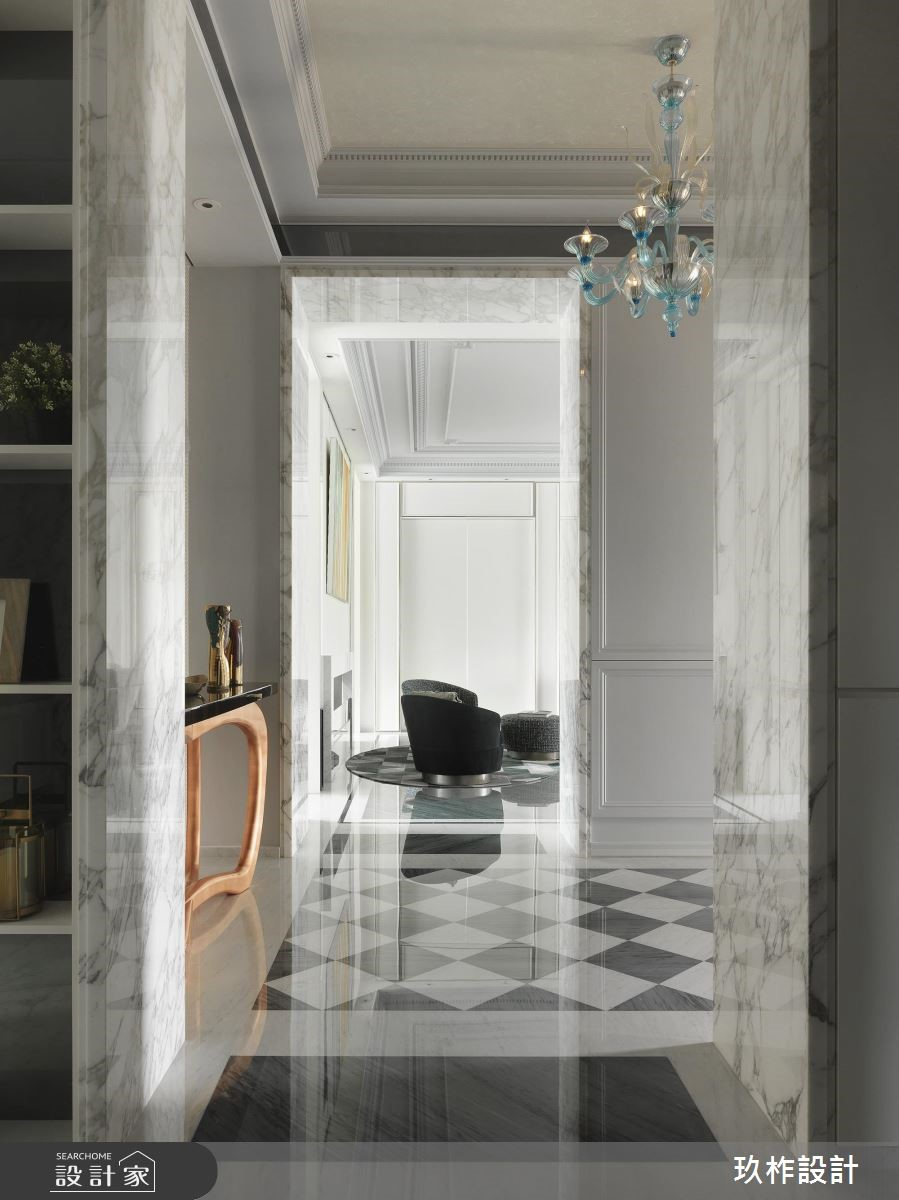300坪新成屋(5年以下)_新古典走廊案例圖片_玖柞設計_玖柞_03之2