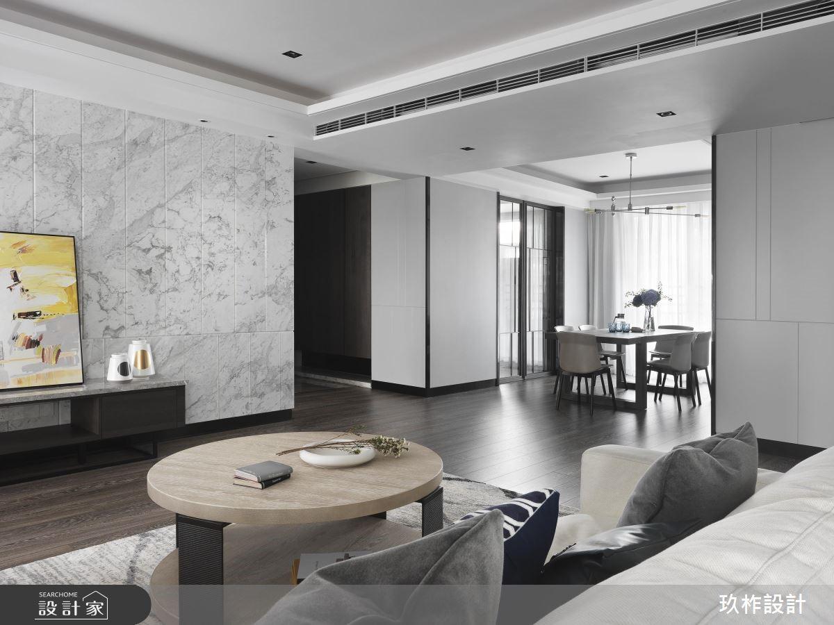 80坪新成屋(5年以下)_奢華風客廳案例圖片_玖柞設計_玖柞_04之3