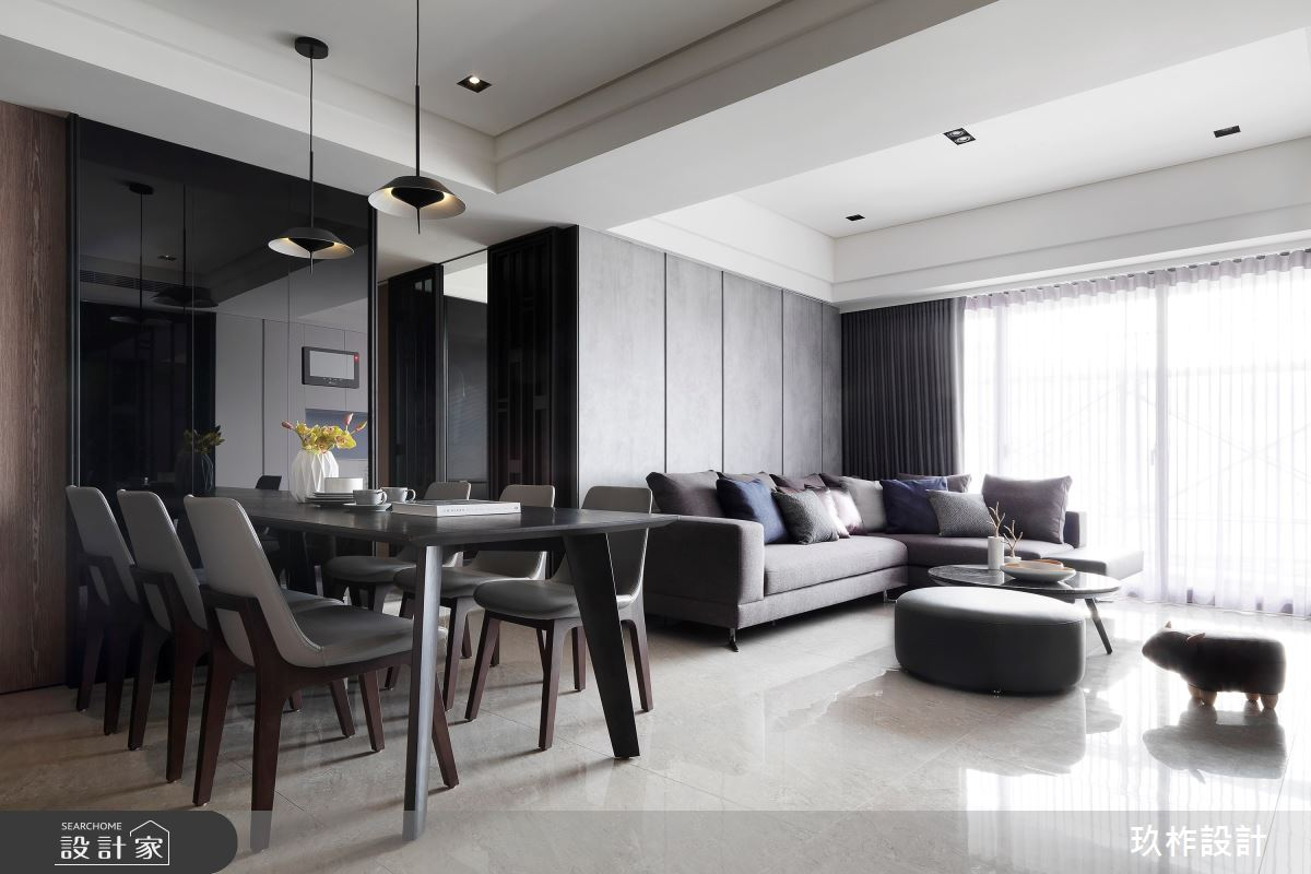 30坪新成屋(5年以下)_現代風客廳餐廳案例圖片_玖柞設計_玖柞_07之3