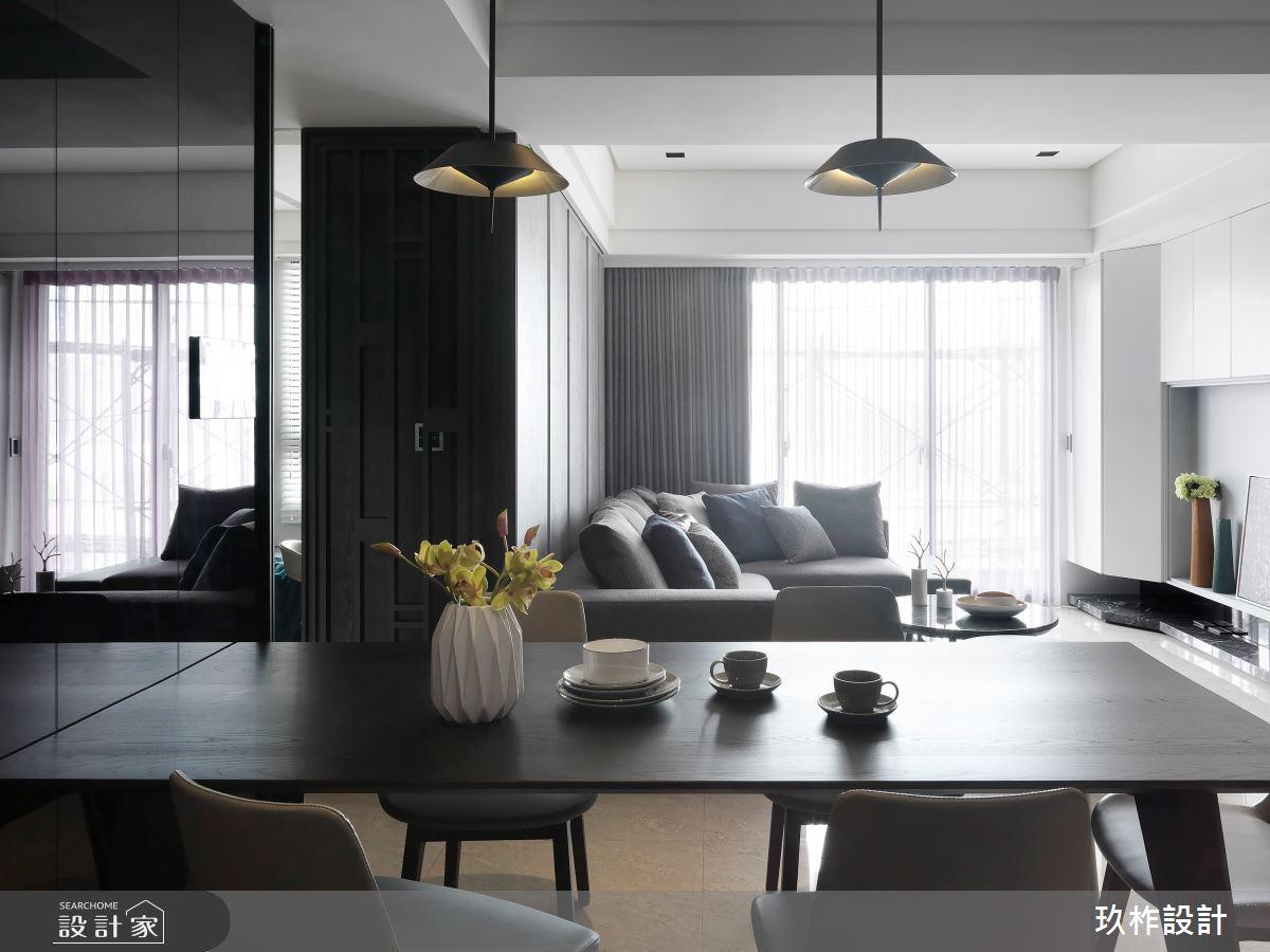 30坪新成屋(5年以下)_現代風客廳餐廳案例圖片_玖柞設計_玖柞_07之4