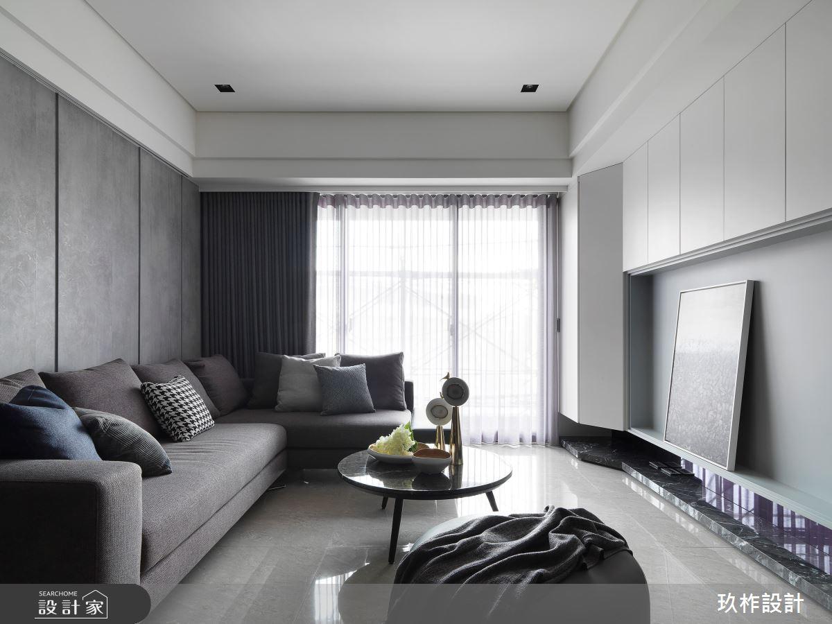 30坪新成屋(5年以下)_現代風客廳案例圖片_玖柞設計_玖柞_07之2