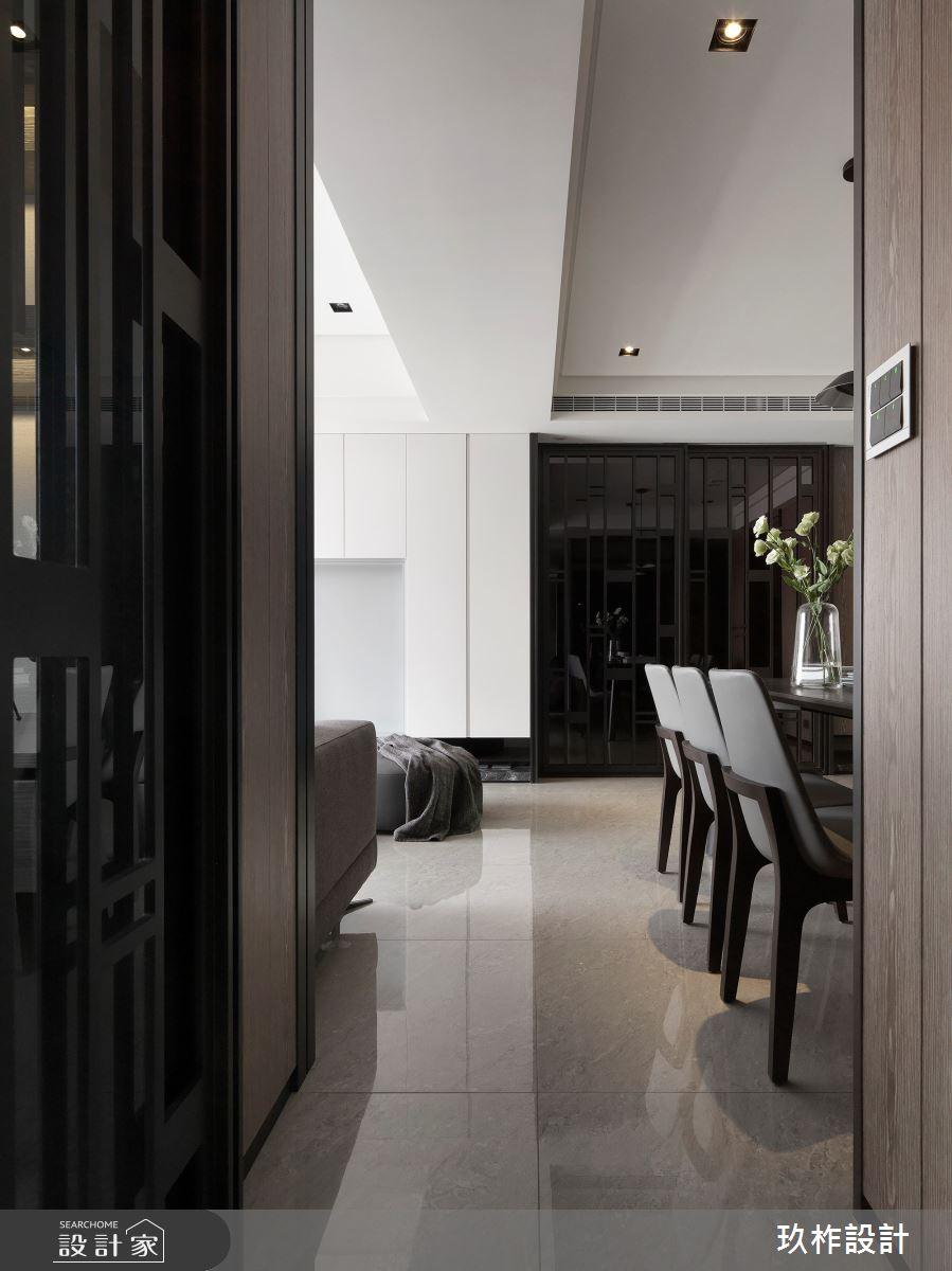 30坪新成屋(5年以下)_現代風餐廳走廊案例圖片_玖柞設計_玖柞_07之5