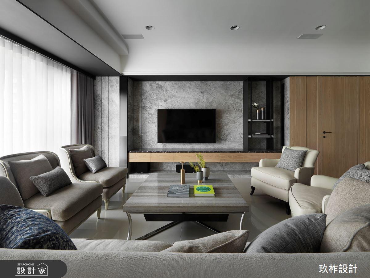 50坪新成屋(5年以下)_現代風客廳案例圖片_玖柞設計_玖柞_09之4