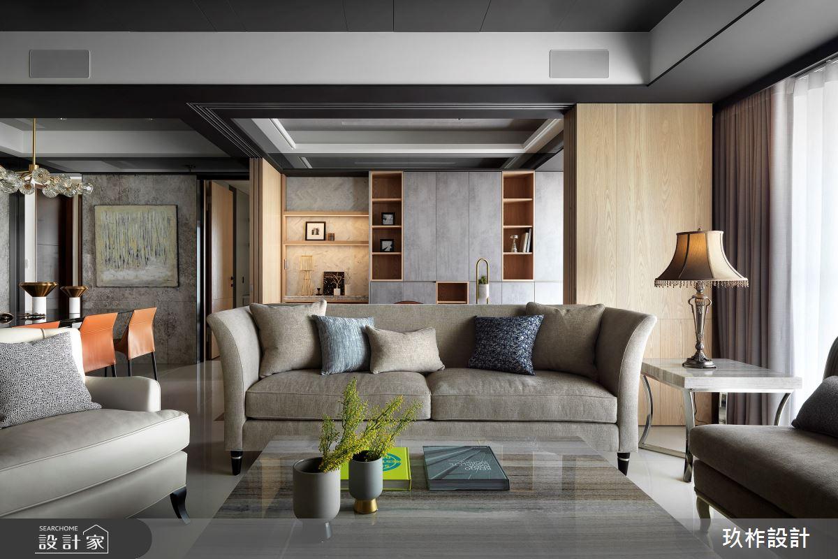 50坪新成屋(5年以下)_現代風客廳案例圖片_玖柞設計_玖柞_09之3