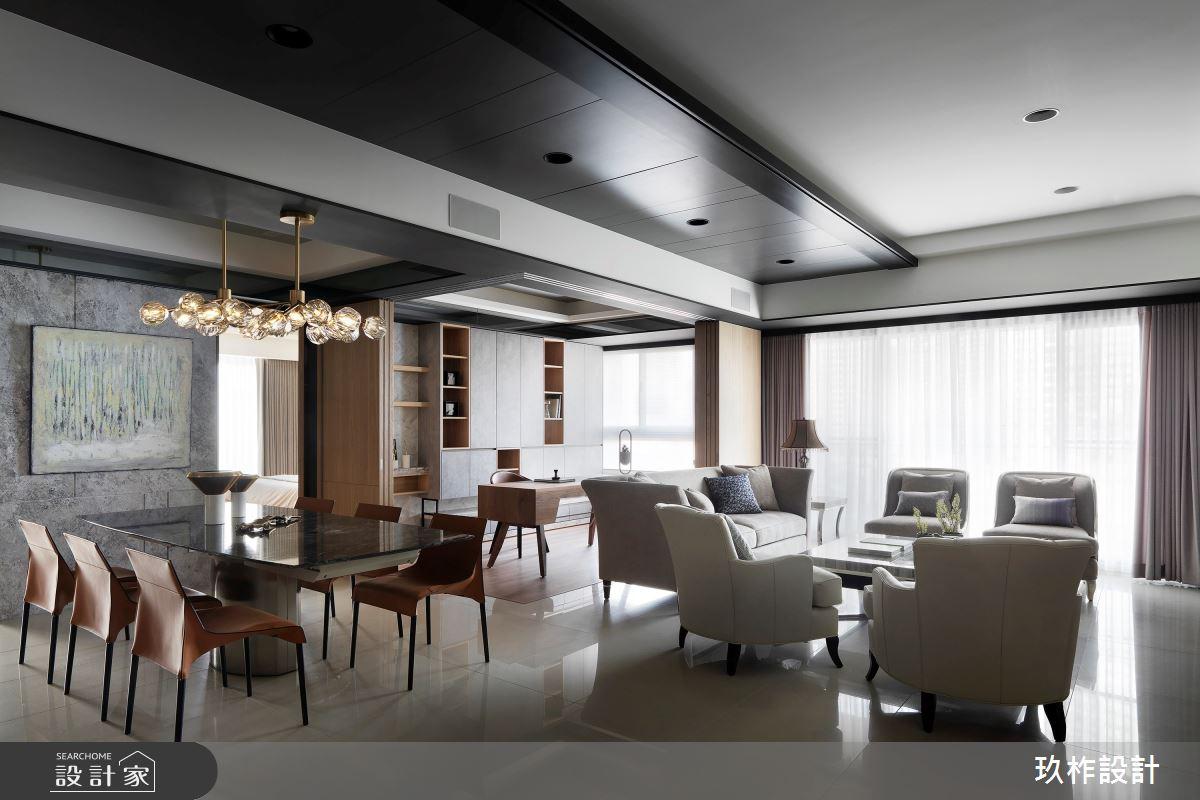 50坪新成屋(5年以下)_現代風客廳案例圖片_玖柞設計_玖柞_09之2