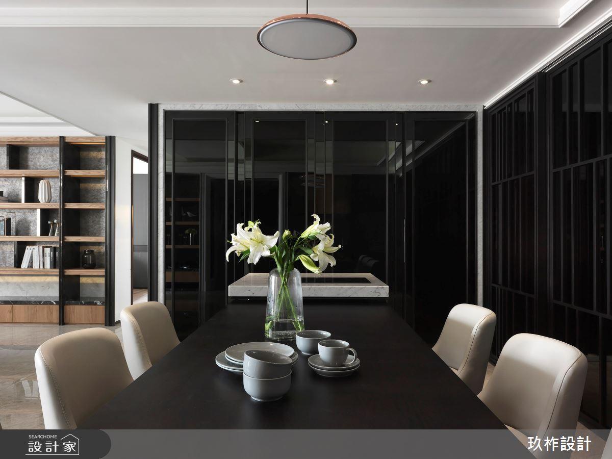 36坪新成屋(5年以下)_現代風餐廳案例圖片_玖柞設計_玖柞_10之2