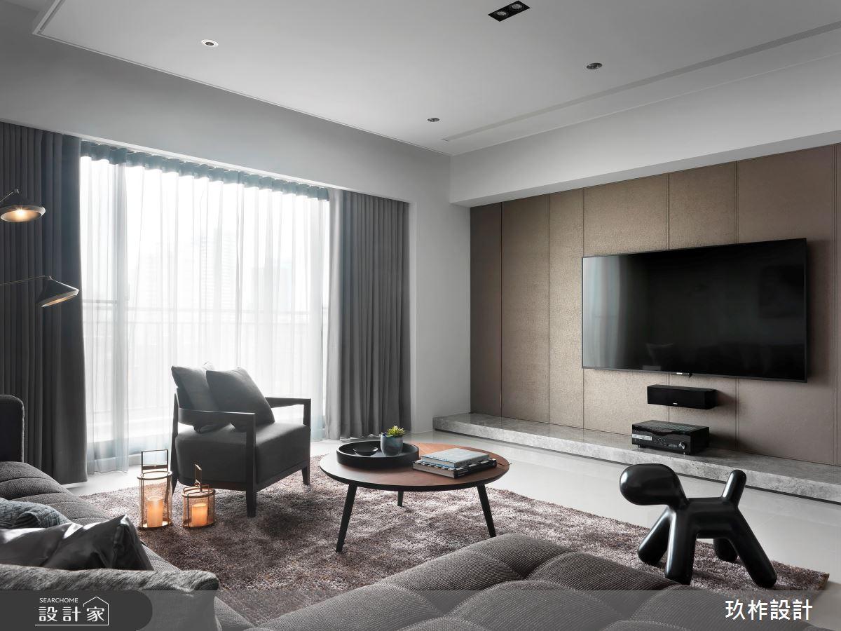 37坪新成屋(5年以下)_現代風客廳案例圖片_玖柞設計_玖柞_13之3
