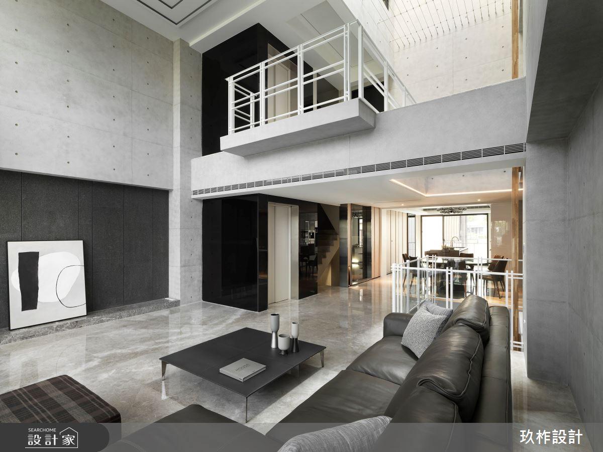 145坪新成屋(5年以下)_簡約風客廳案例圖片_玖柞設計_玖柞_14之4