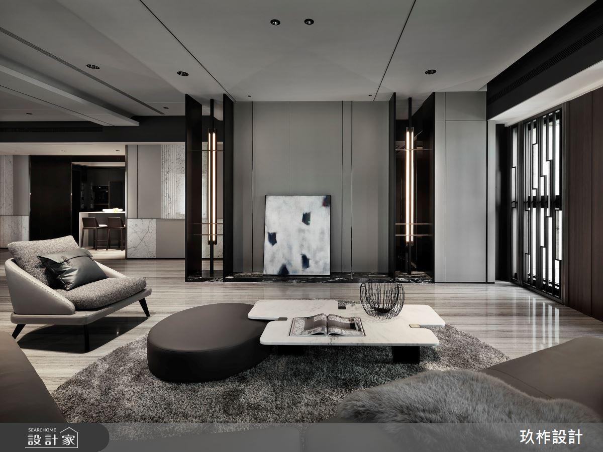 88坪新成屋(5年以下)_現代風客廳案例圖片_玖柞設計_玖柞_22之3