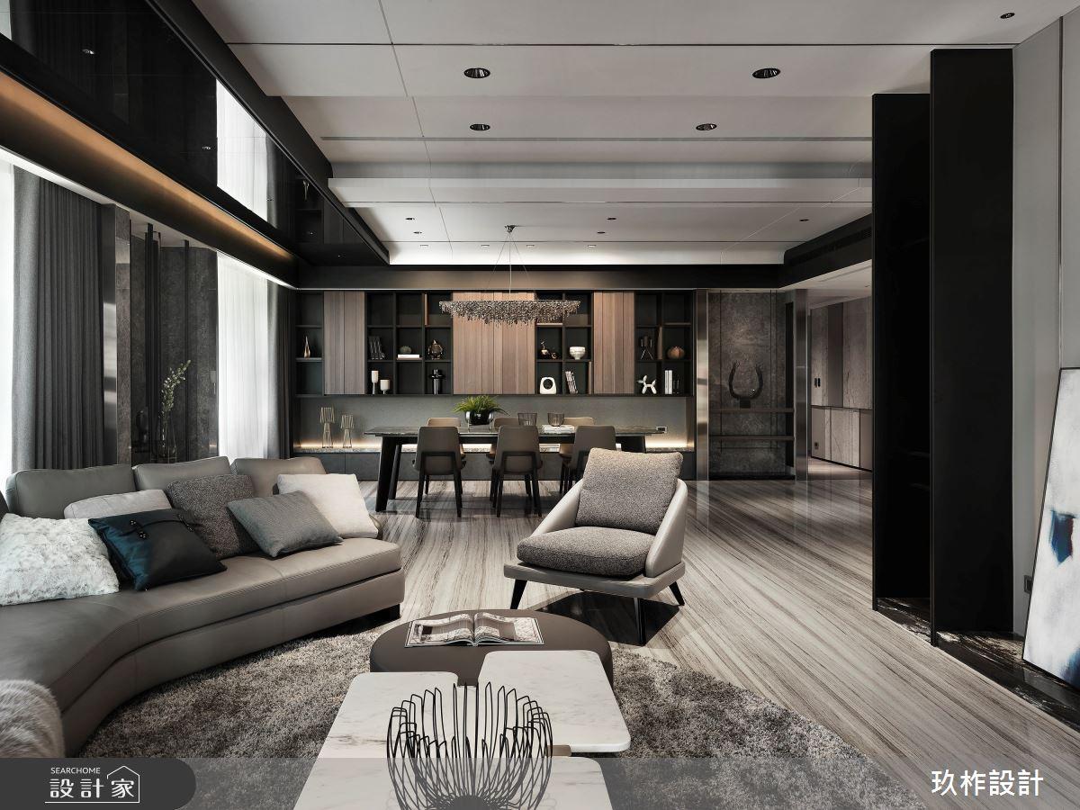 88坪新成屋(5年以下)_現代風客廳案例圖片_玖柞設計_玖柞_22之4