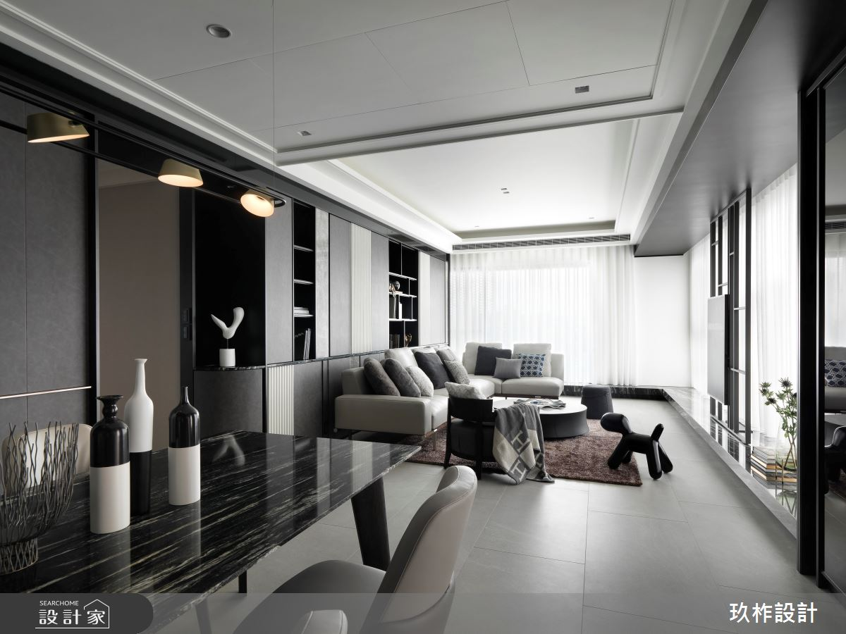 40坪新成屋(5年以下)_現代風客廳餐廳案例圖片_玖柞設計_玖柞_28之5
