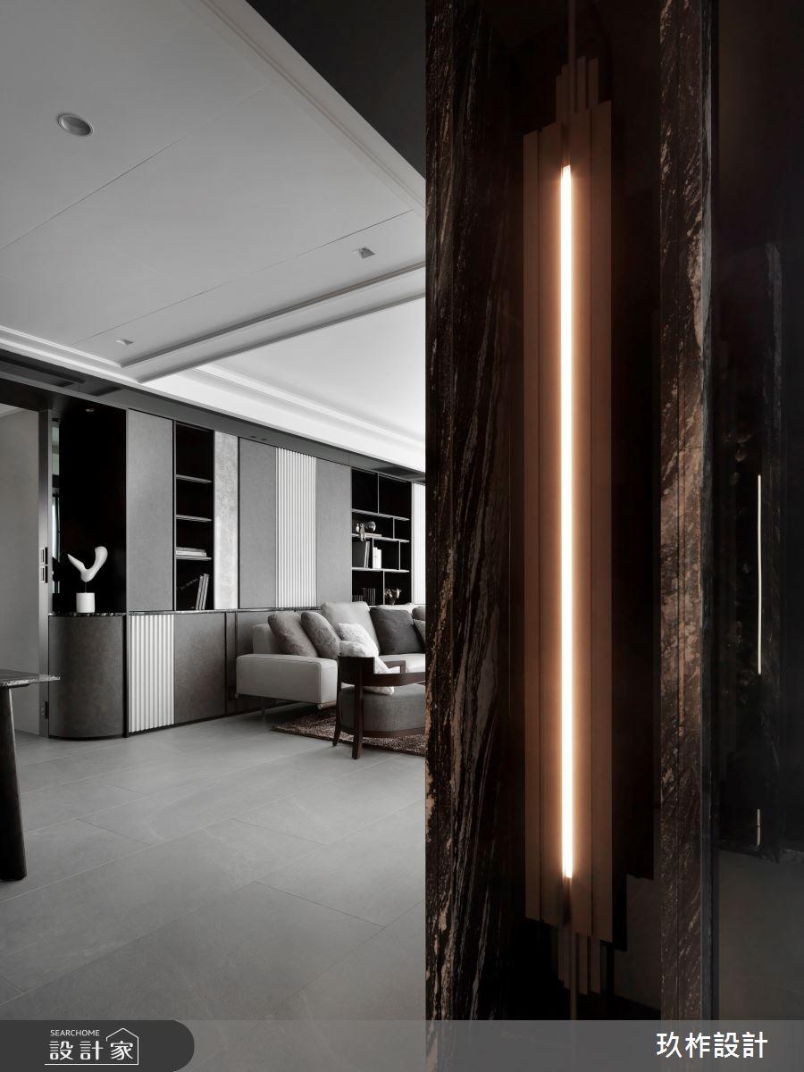 40坪新成屋(5年以下)_現代風玄關客廳案例圖片_玖柞設計_玖柞_28之1