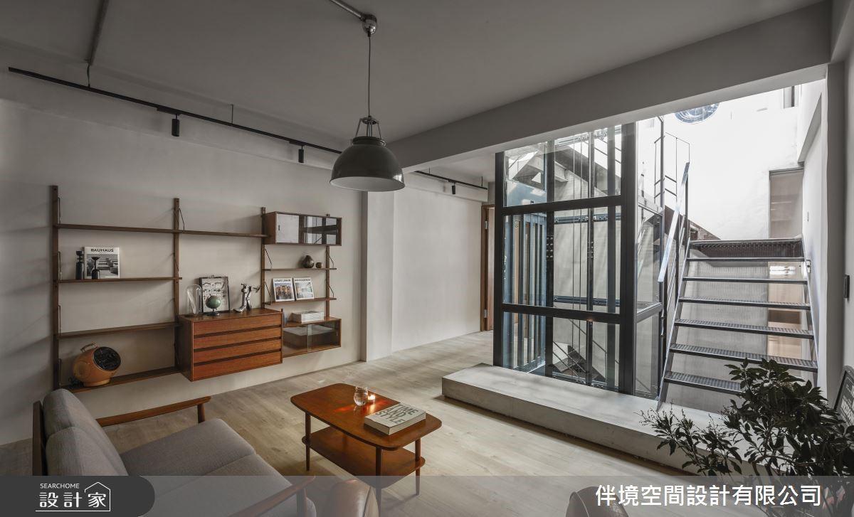 100坪老屋(16~30年)_混搭風客廳樓梯案例圖片_伴境空間設計有限公司_伴境_04之4