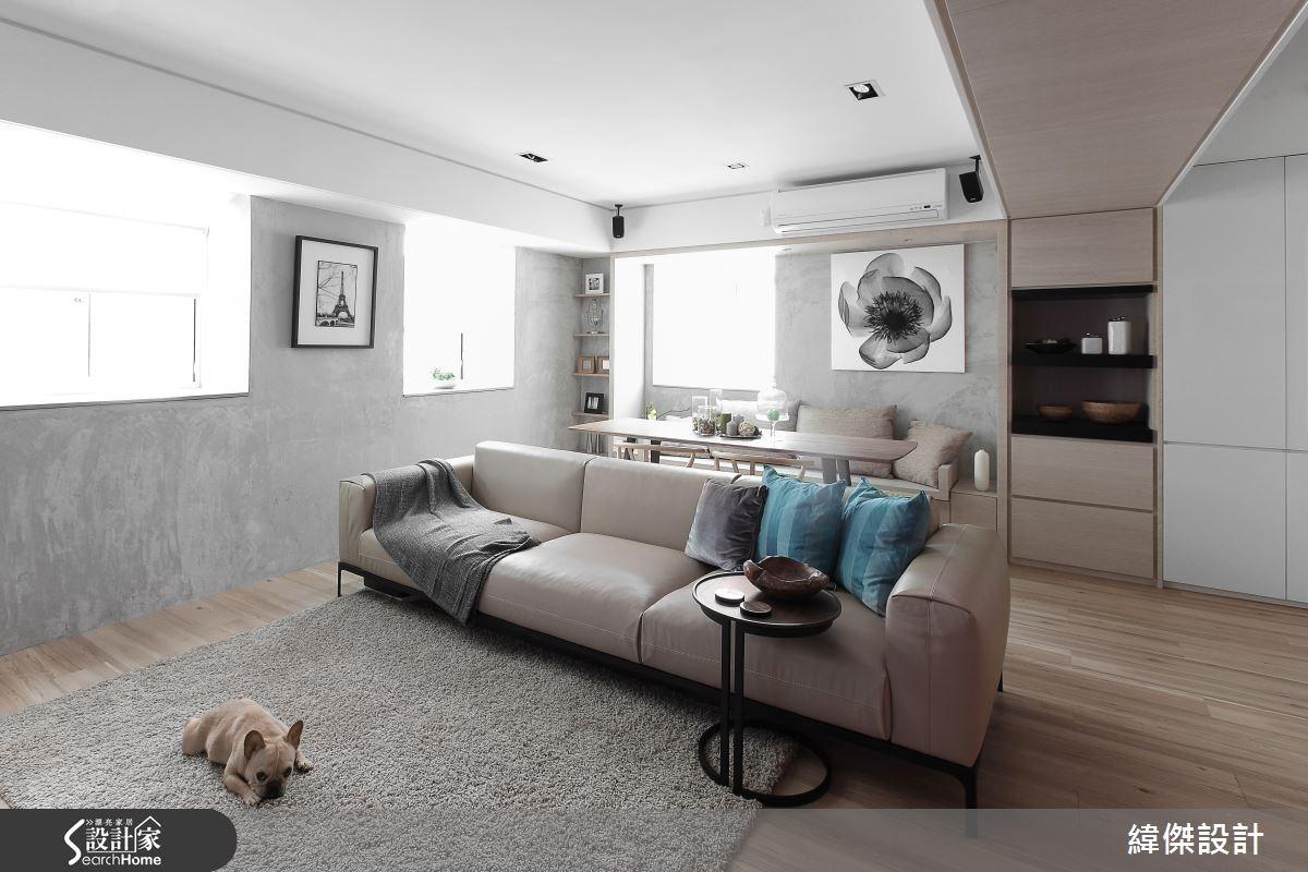 32坪老屋(16~30年)_北歐風客廳寵物案例圖片_緯傑設計_緯傑_02之2