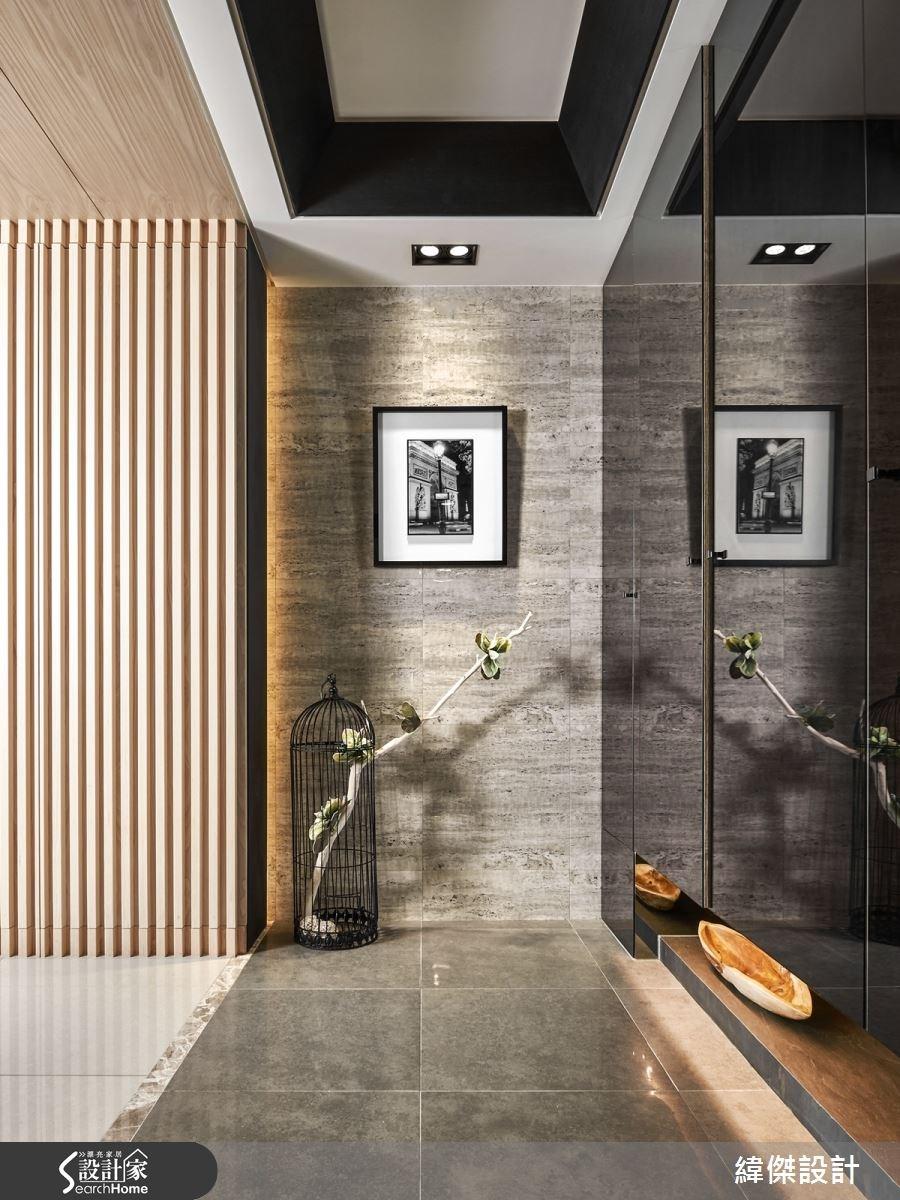 28坪新成屋(5年以下)_現代風玄關案例圖片_緯傑設計_緯傑_03之1