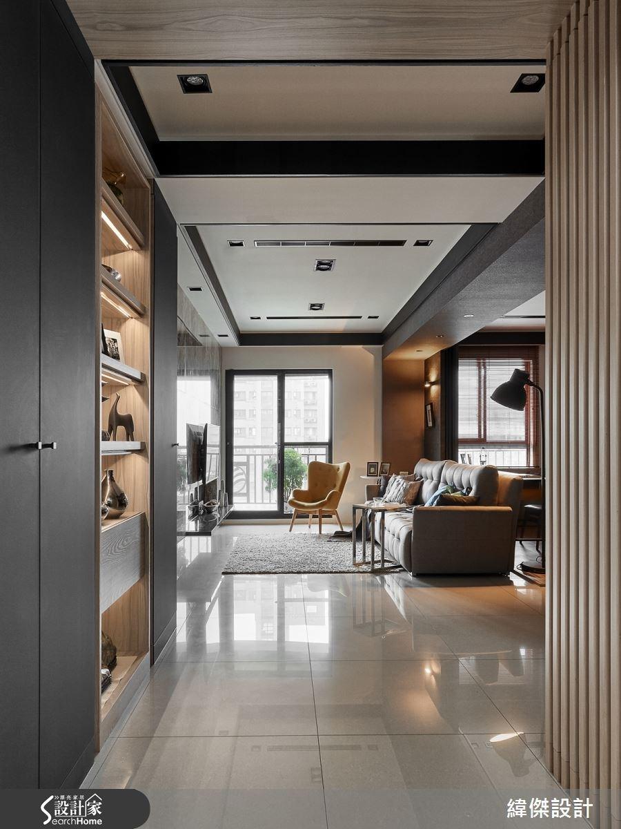 28坪新成屋(5年以下)_現代風走廊案例圖片_緯傑設計_緯傑_03之2