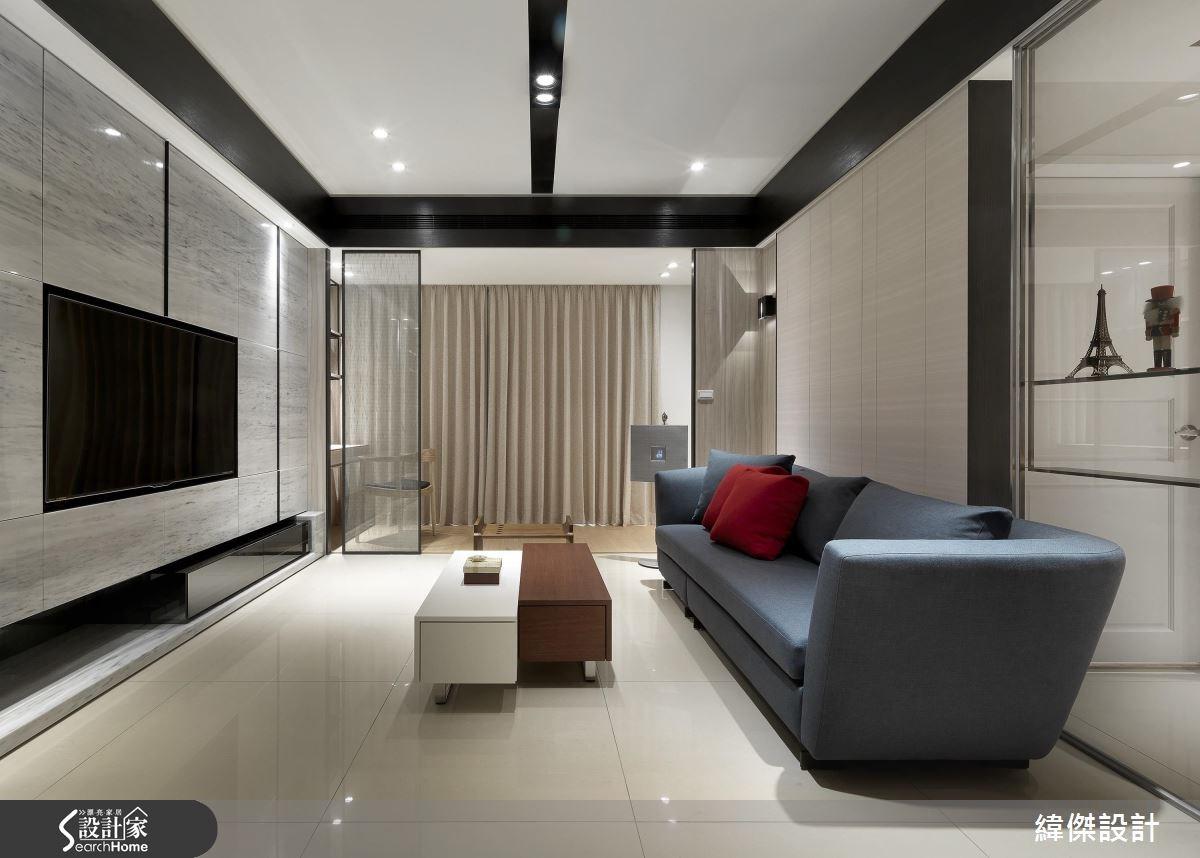 27坪新成屋(5年以下)_新中式風客廳案例圖片_緯傑設計_緯傑_07之4