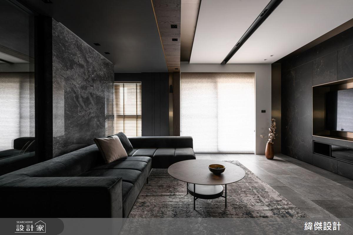 36坪新成屋(5年以下)_現代風客廳案例圖片_緯傑設計_緯傑_15之4
