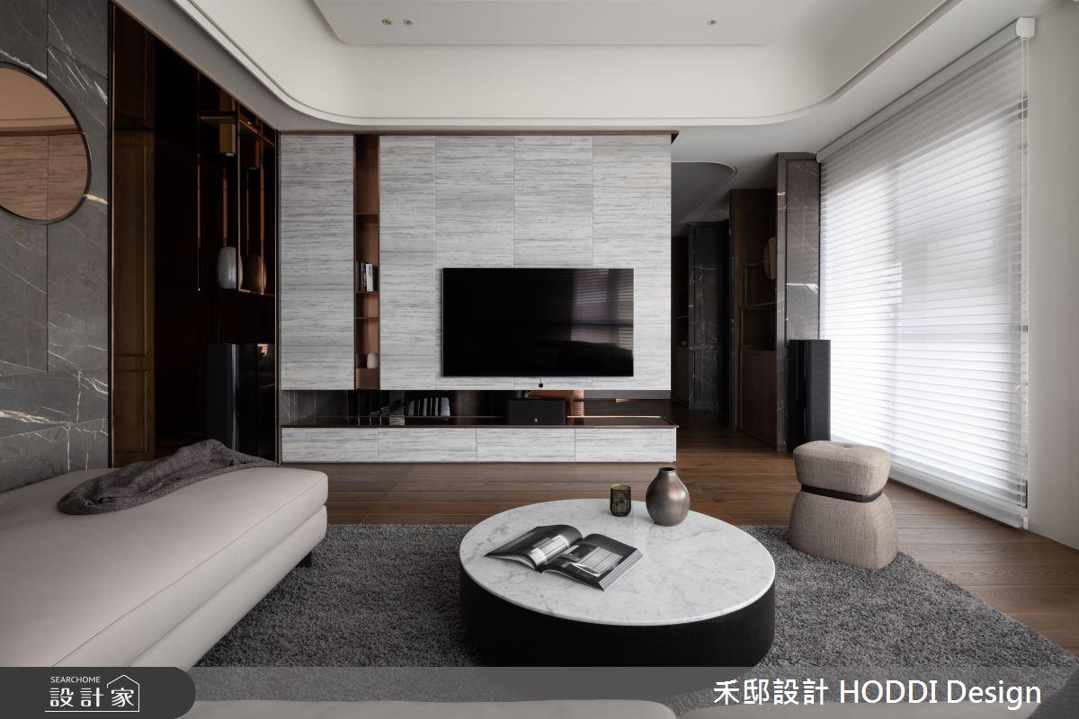 40坪新成屋(5年以下)_新中式風客廳案例圖片_禾邸設計 HODDI Design_禾邸_08之3