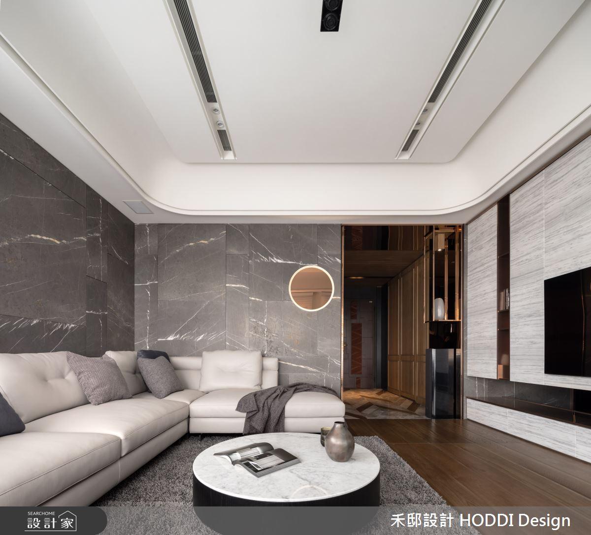 40坪新成屋(5年以下)_新中式風客廳案例圖片_禾邸設計 HODDI Design_禾邸_08之2